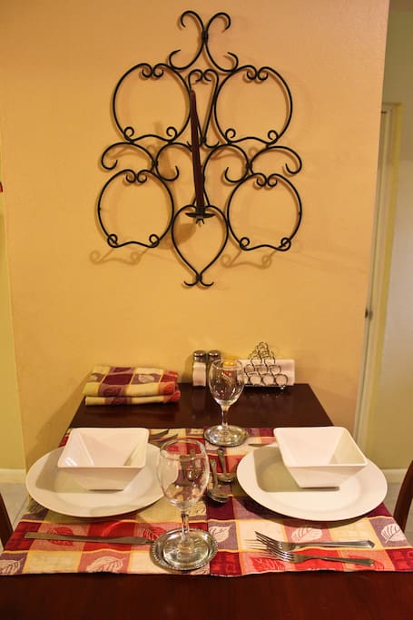 Dining area adds that together feeling when sharing a meal
