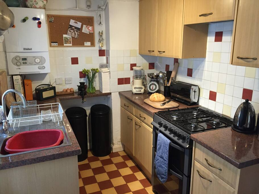 Small, but fully equipped kitchen.