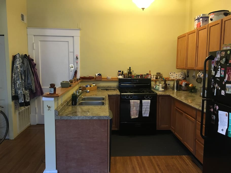 Gas Range and Plenty of Counter Space