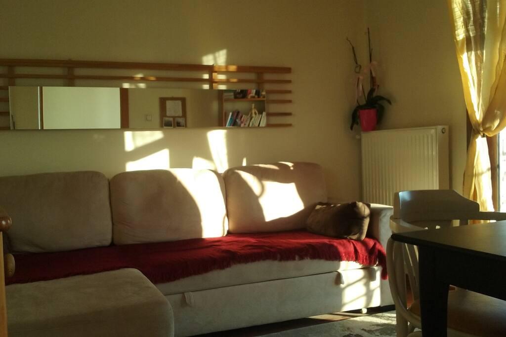 Δωμάτιο με καναπέ κρεβάτι