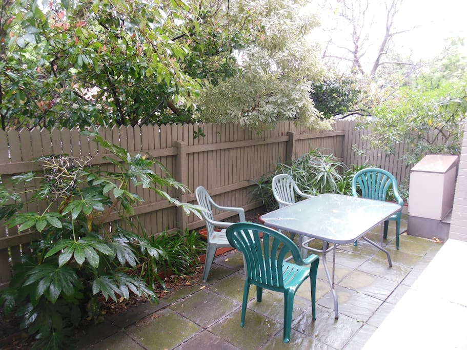 Large, private courtyard and BBQ