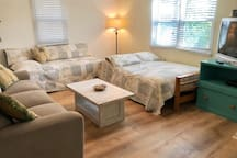 """Living Room is 12""""x17"""" it has a Twin bed & large Full Double  Note: There are 4 TV's in The Beach House with cable TV, 2 DVD players & WiFi"""