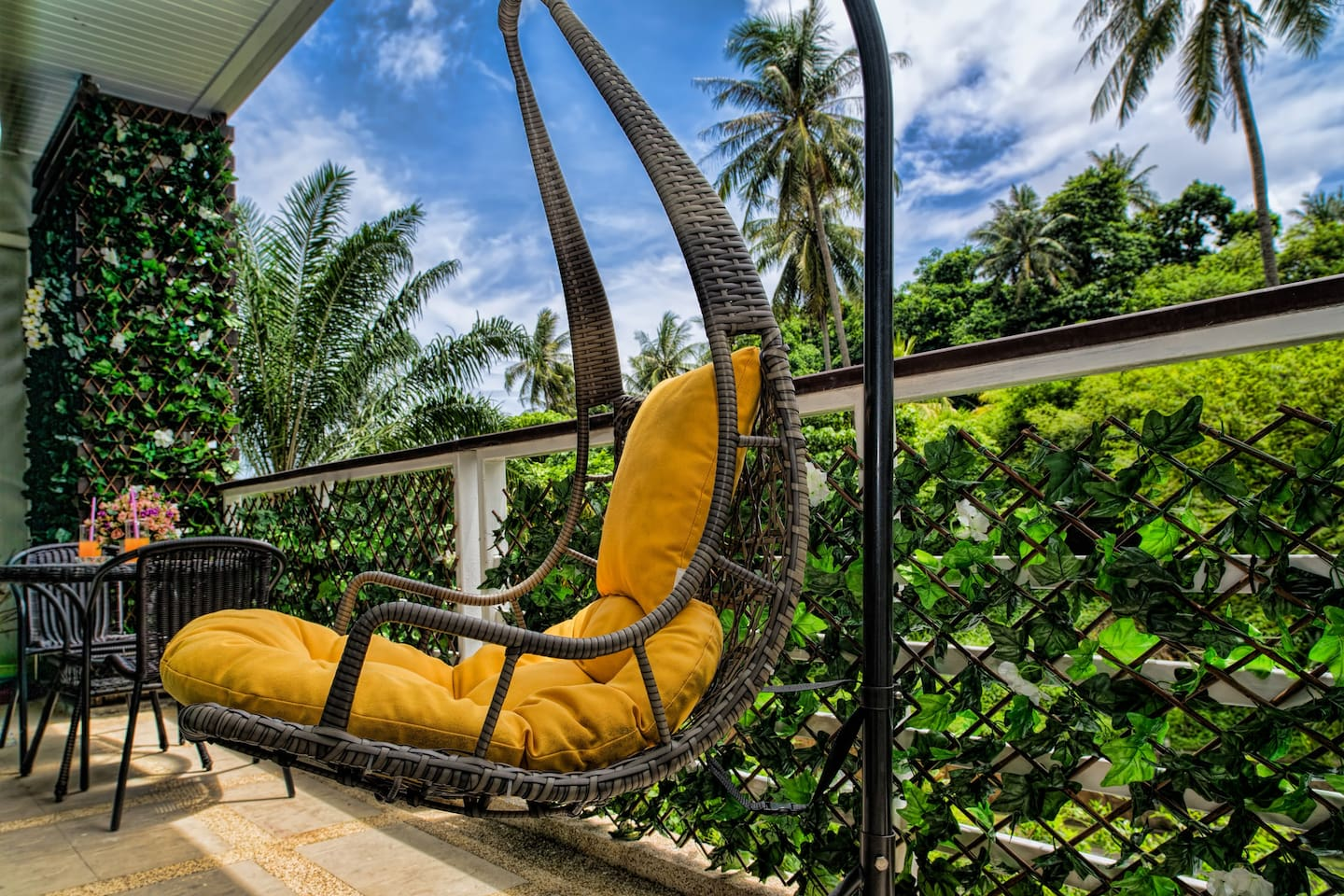 Enjoy amazing surroundings in swing chair from your balcony!!!