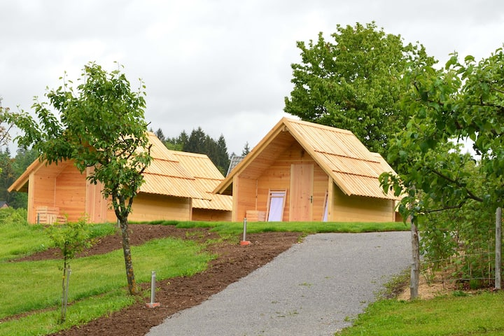 Glamping, wooden chalets - 1.