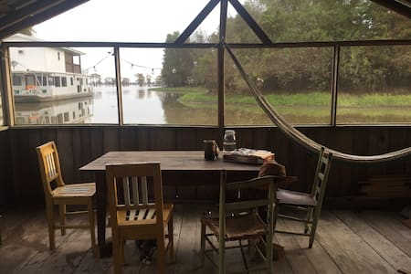 Sinker Cypress Houseboat on Basin - Breaux Bridge
