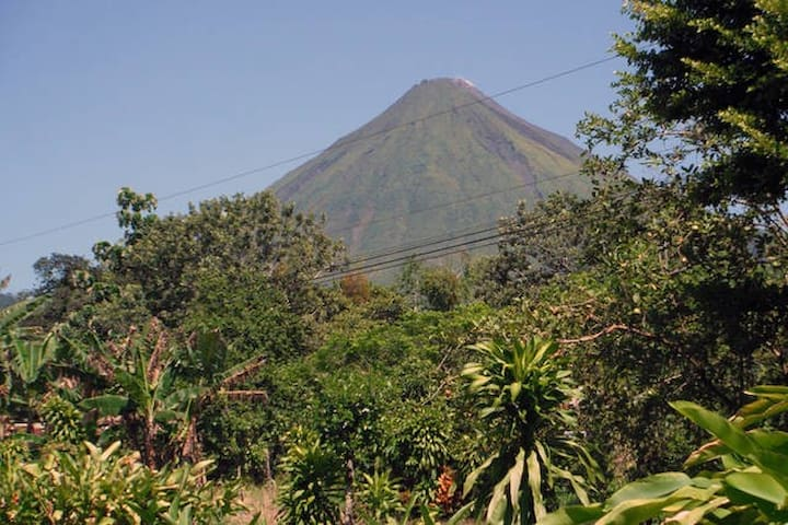 View of the Arenal Volcano from the Cabins