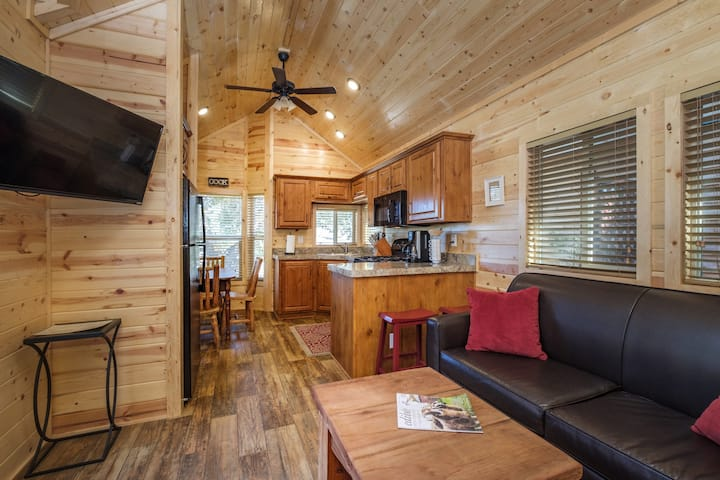 "Cozy Cabin 7  is called  ""Mission Trail"""