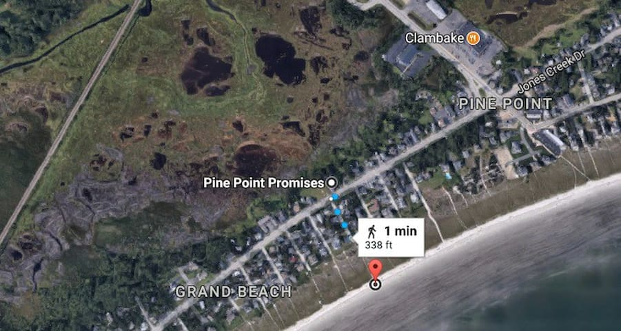 Sunset Cottage@Pine Point- 2 Minutes Bed to Beach!