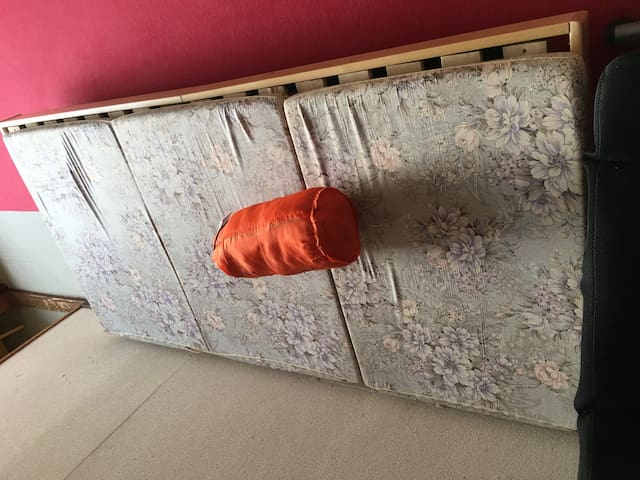 Sleeping bag at corridor in LakeTowada