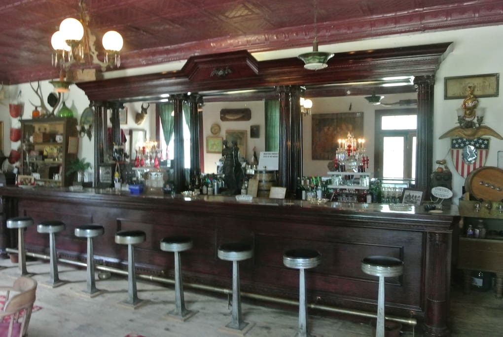 Our Historic Old West Saloon is a favorite hang-out for guests and crew.