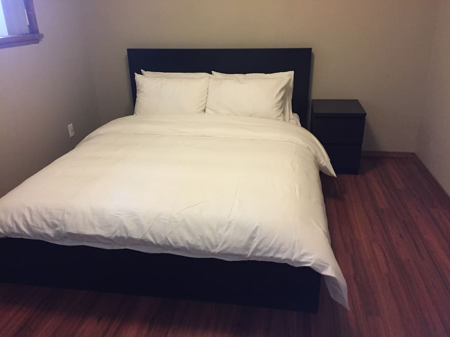 Brand new queen size bed.