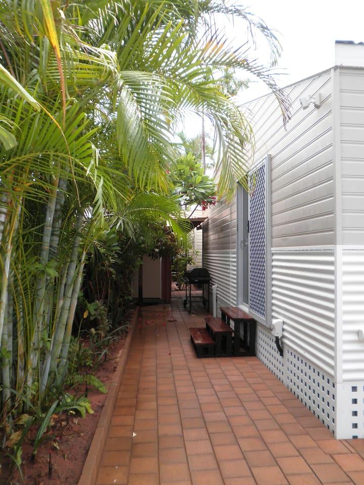 Garden leading to private en-suite