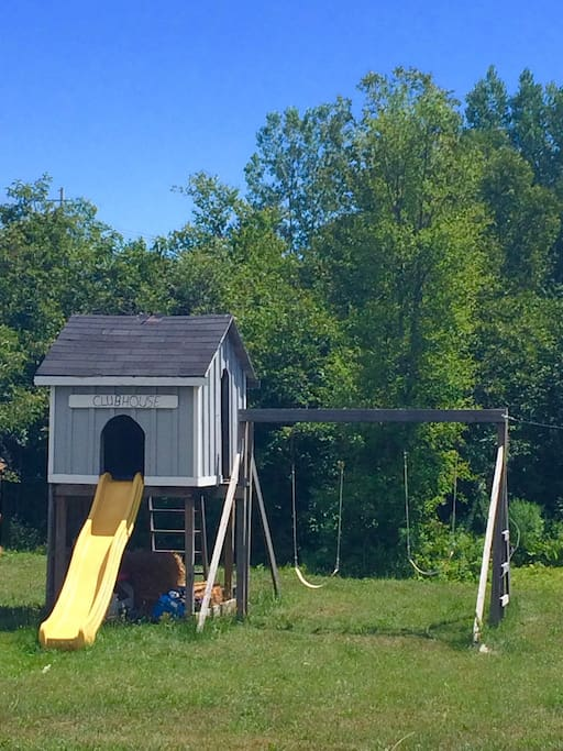 Back yard play structures