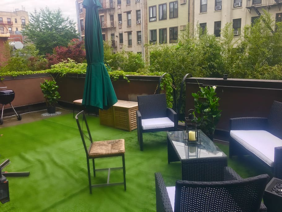 Huge private terrace in the liveliest and loveliest area of Manhattan - a rare find!