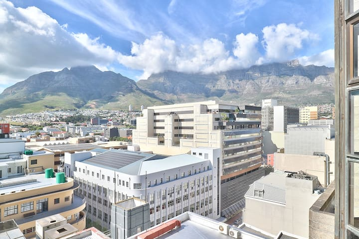 Gorgeous Table Mountain view from this apartment.