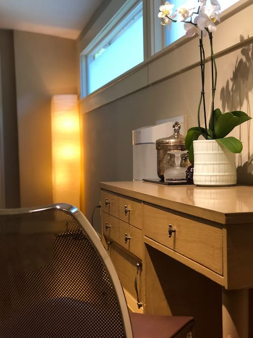 Desk and dresser draws for your stay!
