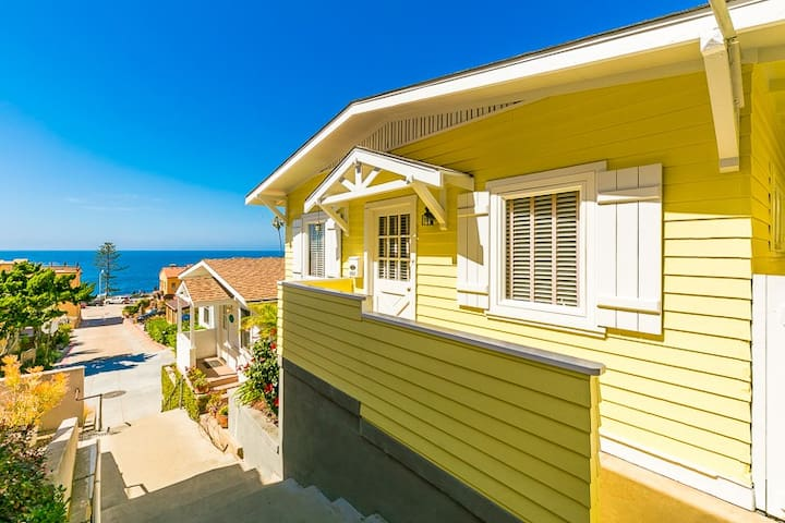 25% OFF MAR/APR - Cottage in Village, Ocean Views, Walk to Beach + Shops