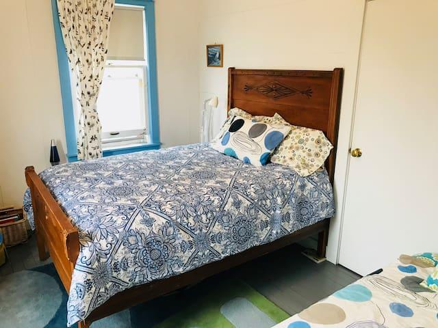 Double bed in kids' room