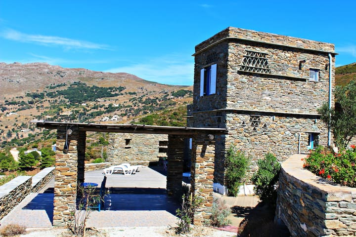 ANDROS house Apollon - Scholi - Villa