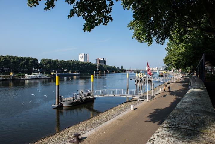 Direkt an der Weser Übernachten
