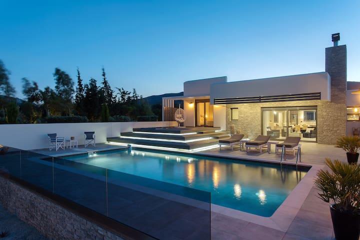 Eden Luxury Villa near Lindos, Eco Pool & Jacuzzi