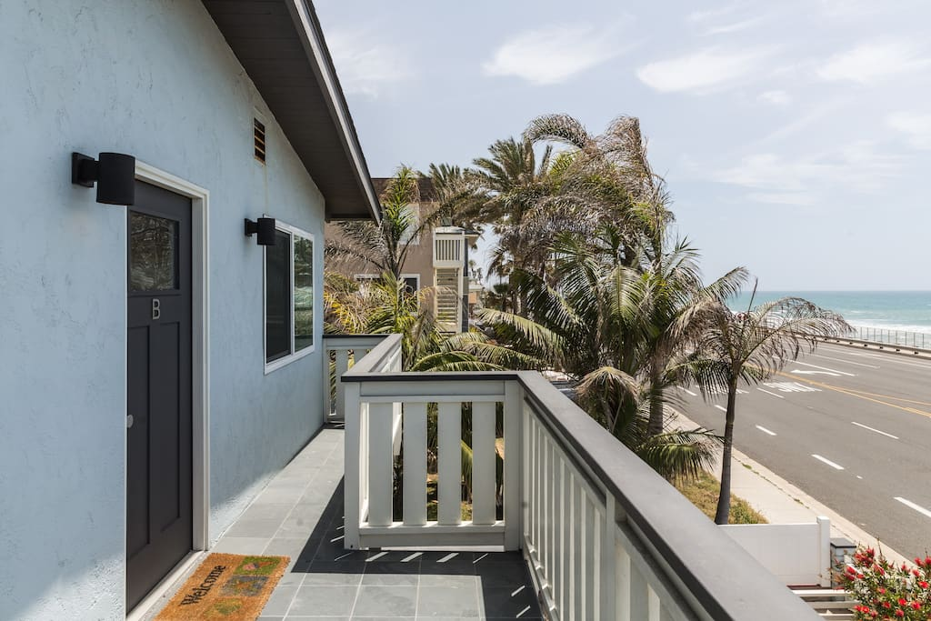 Unobstructed views from the ocean and beach. You'll be almost on the sand...