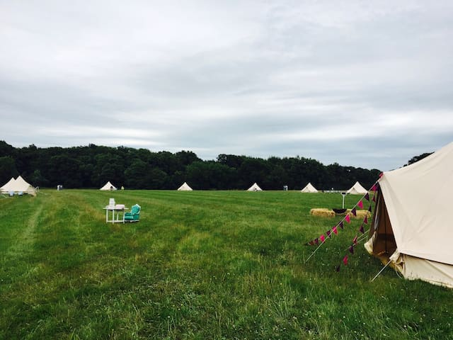 Ridlington Farm Luxury Bell Tent Village, Petworth