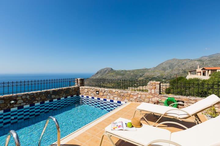 Villa Despina, view to Libyan sea! - Sellia - 別荘