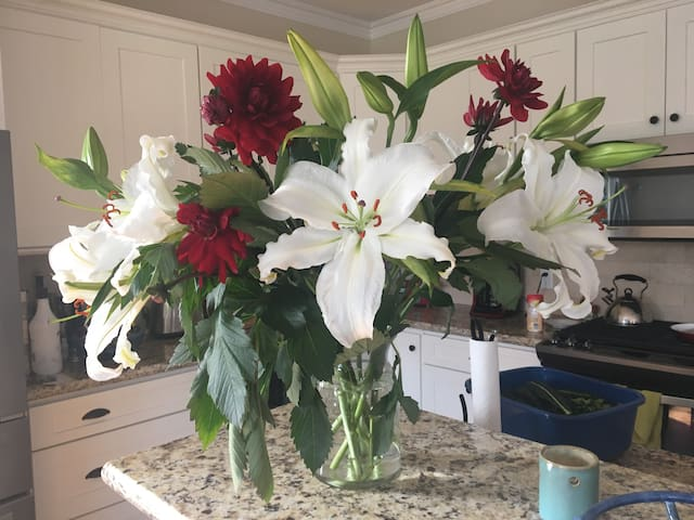 Flowers from Saturday morning Farmers market.