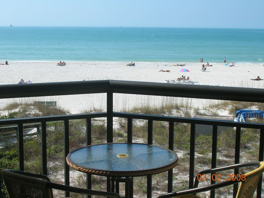 View of Gulf of Mexico from condo's balcony