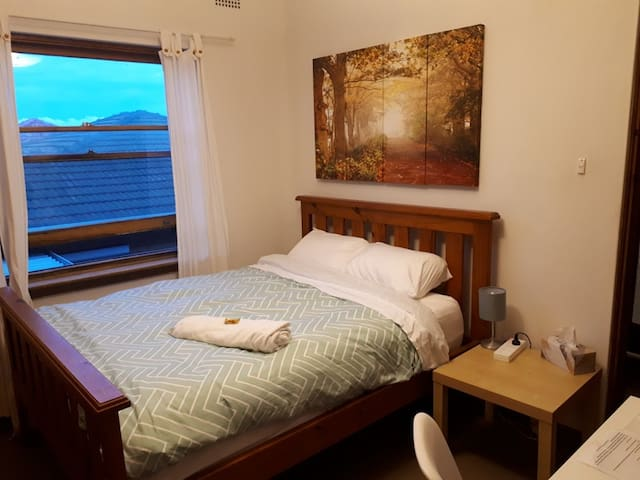 Comfy bedroom by Airport, St George Hospital, TAFE