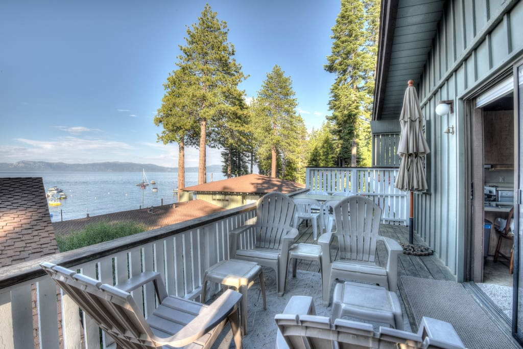 View from the deck overlooking Lake Tahoe