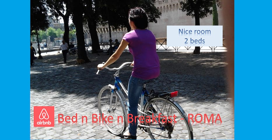 Bed n Bike n Breakfast la tua stanza con la bici