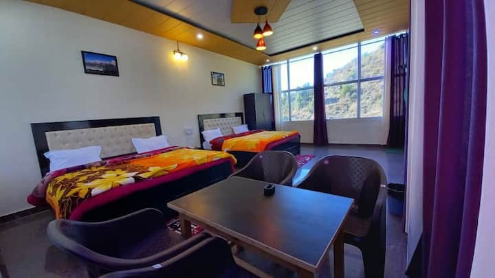 BuranBnB Dhanaulti | Beautiful views and clouds