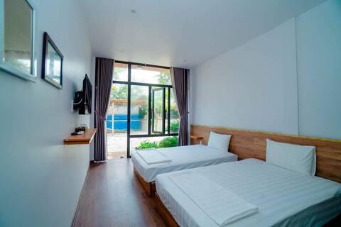Phòng ở sát bãi biển Nhật Lệ.