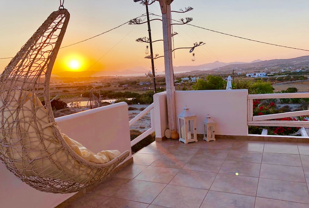 Enjoy the sunset from the beautiful terrace
