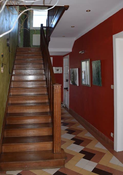 Le couloir du rez-de-chaussée