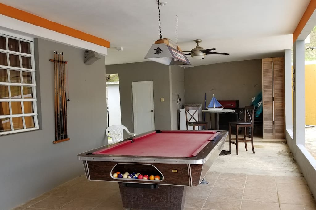 How about a nice game of pool to make things more fun?