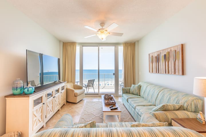 Lighthouse 505 -Beach front 2 King BR, 2ba+Bunk rm