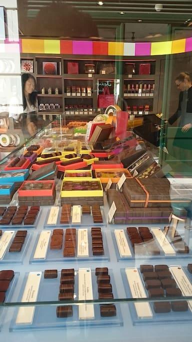Chocolate shop in the neighborhood