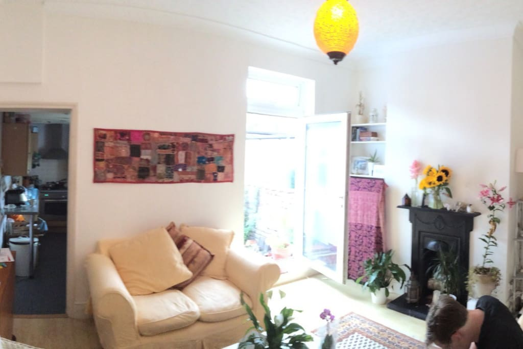 Light and bright livingroom in summer