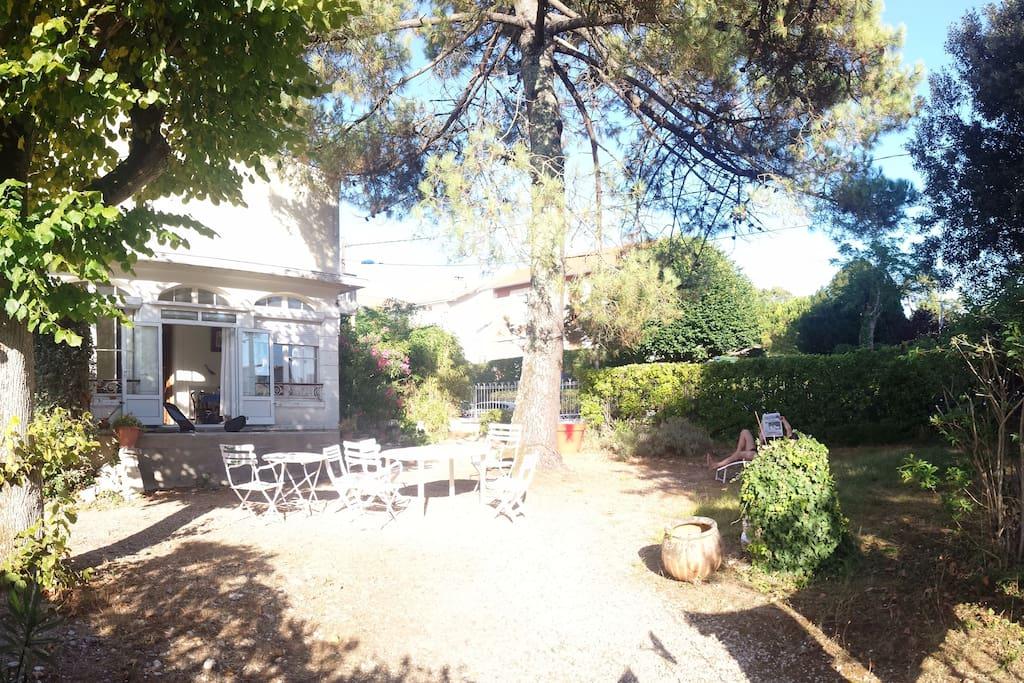 Le jardin de 560m²