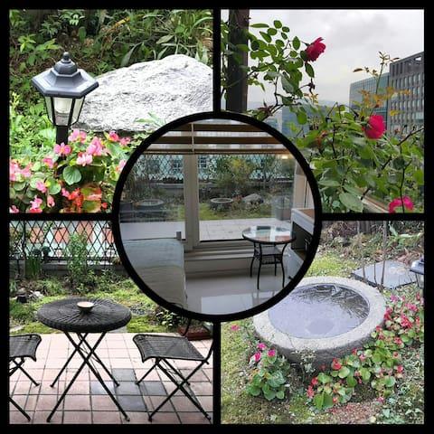 판교 도보출퇴근개인 테라스와 예쁜 정원이 있는독특한 명품숙소3