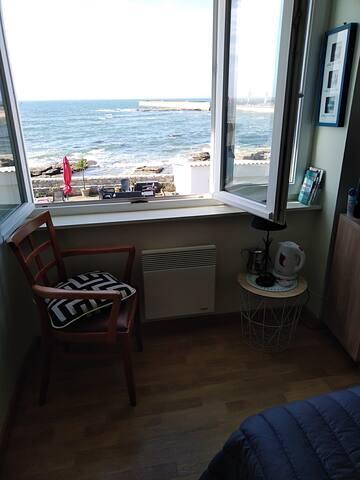 Vue panoramique sur mer. Chambre tout confort, sde