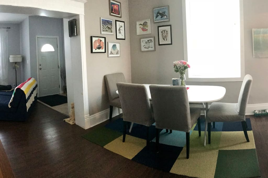 """Shared space - """"kitchen"""" table"""