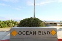 Ocean Blvd sign