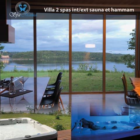 Villa Spamania, 2 spas int/ext, hammam,sauna.