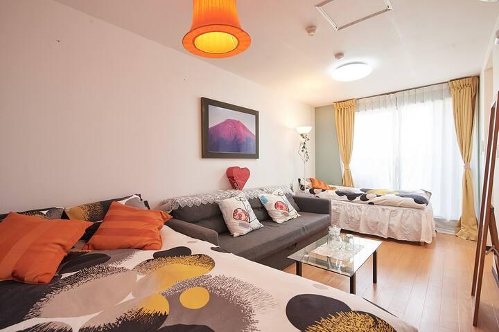 新宿1分超好位置、超豪华独层公寓、視線好、卫生间2つ,浴室2つ,房间3つwhitehouse701