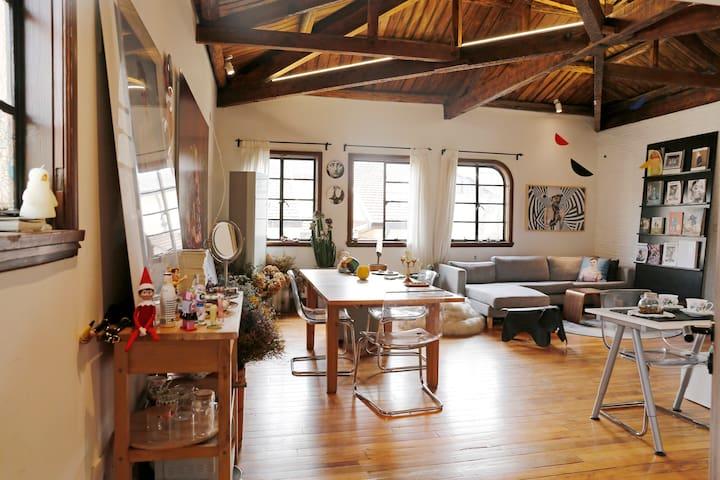 4-6月法租界美领馆旁带5米尖顶的艺术家的家 - Shanghai - Byt