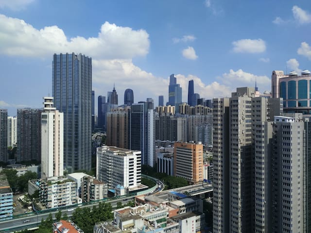 Guangzhou CBD Apartment/Sofa Bed For Couchsurfing - Guangzhou Shi - 아파트
